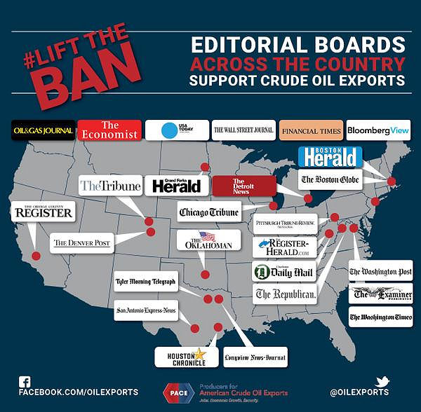 Editorial boards for crude oil exports: PACE 5/28/2015